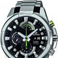Коллекция Edifice 12 наименований стоимостью от 3990 до 22900 руб. CASIO Edifice - Флагманская линейка кварцевых часов в стальных корпусах исполненных в спортивном стиле. Именно часы из этой коллекции собирают в себя все самое прогрессивное, начиная с дизайна и заканчивая инновационными механизмами. В былые времена собрание CASIO Edifice обладало лучшим соотношеним цена/качество, сейчас коллекция позиционируется прежде всего как собрание часов подчеркивающие статус его владельца.