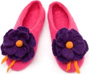 W.X. Тапочки с фиолетовым цветком