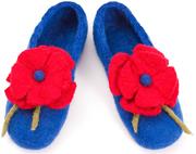 W.X. Тапочки с цветочком blue- red