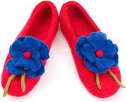 W.X. Тапочки с цветочком red- blue