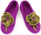 W.X. Тапочки с цветочком violet-gold