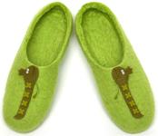 W.X. Тапочки-змейки зелёные