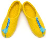 W.X. Тапочки-змейки желтые